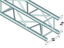 *VUOKRALLE* ALUTRUSS QUADLOCK 6082 4-way cross beam