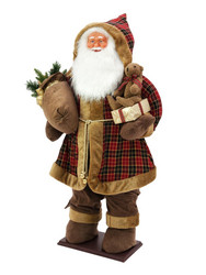 EUROPALMS 160cm Bushy beard Santa, inflatable with integrated pump
