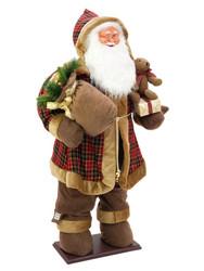 EUROPALMS 160cm Bushy beard Santa, inflatable with integrated pump