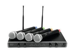 OMNITRONIC UHF-104 Langaton Mikrofonijärjestelmä | 828.1/830.3/864.8/863.8MHz