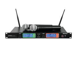 OMNITRONIC UHF-502 2-Channel Langaton Mikrofonijärjestelmä | 823-832MHz