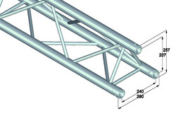 ALUTRUSS TRILOCK 3-Way Cross Beam
