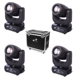 ETEC LED Moving Head E150 Spot Set with Flightcase
