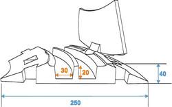 EUROLITE Cablebridge 2 Channels curve 35 degr. - Kaapeliramppi
