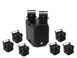 OMNITRONIC Set BOB-10A wh + 8x BOB-4, bk/wh