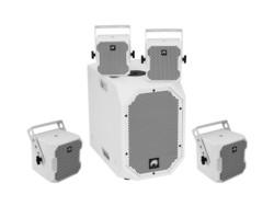 OMNITRONIC Set BOB-10A wh + 4x BOB-4, bk/wh