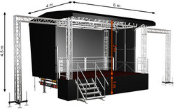 Standard S24 (6x4x4,5m) Mobile Stage
