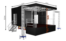 Standard S30 (5x6x5m) Mobile Stage