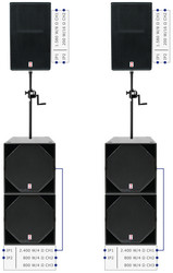 Voice-Acoustic SubSat-15sp Set - Plug & Play Sound System Self-Powered