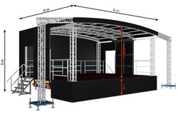 Profiled M48 (8x6x5m) Mobile Stage