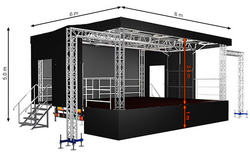 Standard M48 (8x6x5m) Mobile Stage