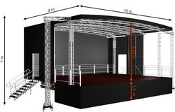 Profiled XL80 (10x8x7m) Mobile Stage