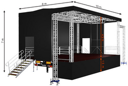Standard XL80 (10x8x7m) Mobile Stage