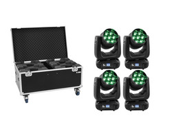 EUROLITE Set 4x LED TMH-X7 Wash Zoom + Case