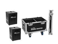 * VUOKRAUS * EUROLITE Set 2x Spark Master + Case