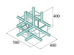 ALUTRUSS DECOLOCK DQ4-PAT42 4-Way T-Piece