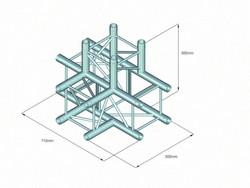 ALUTRUSS QUADLOCK S6082T-42 4-Way T-Piece