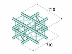 ALUTRUSS QUADLOCK S6082C-41 4-Way Cross Piece