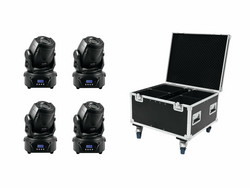 * VUOKRAUS * EUROLITE Set 4x LED TMH-60 MK2 + Case