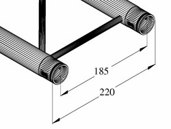 ALUTRUSS DECOLOCK DQ2-S, 2-way Cross Beam bk
