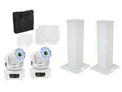 EUROLITE Set 2x Stage Stand 100cm + 2x LED TMH-75 COB white