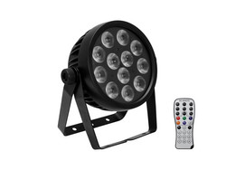 EUROLITE Set 4x LED 7C-12 Silent Slim Spot + Case
