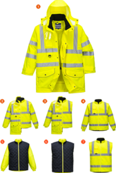PORTWEST Hi-Vis 7-in-1 Traffic Huomiotakki