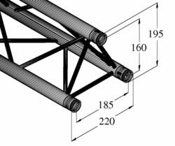 ALUTRUSS DECOLOCK DQ3-S 3-Way Cross Beam