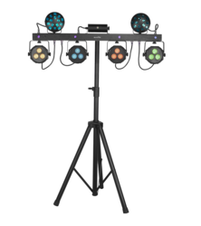 * VUOKRAUS * EUROLITE LED KLS Laser Bar Next FX Light Set + Lighting Stand