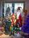 EUROPALMS Reindeer with Coat, Metal, 155cm, green