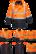 PORTWEST Hi-Vis 7-in-1 Kaksiväri Traffic-Takki