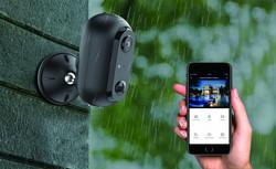 WOOX WiFi Ladattava Valvontakamera Full HD 1080P, Ulkokäyttöön IP65