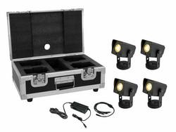 EUROLITE Set 4x AKKU Dot 1 RGB/WW QuickDMX bk + Charger + Case