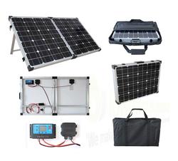 Brightsolar 120W Kannettava ja Taitettava Aurinkopaneeli, sis säätimen