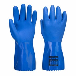 PORTWEST Sininen PVC Kemikaalisuojakäsine