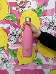 Meribottles Pink 500ml, Ruostumaton Teräs