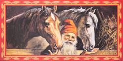 Jenny Nyström, tonttu ja kaksi hevosta