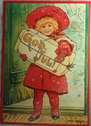 A4 kokoinen joulukalenteri God Jul