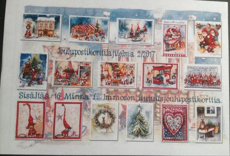 2/2017 joulukorteista 16 kpl nippu