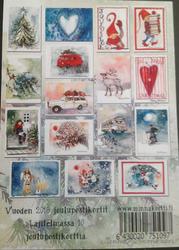 Osa vuoden 2018 joulukorteista valmiina 16 kpl nipussa