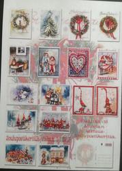 Korttipakettissa 16 kpl vuoden 2017 joulukortteja