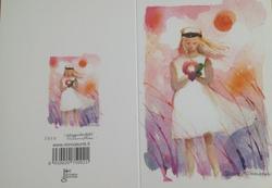 Yo-tyttö 2-osainen kortti