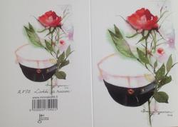 Yo-lakki ja ruusu 2-osainen kortti