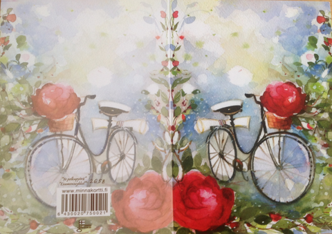 Yo-lakki ja polkupyörä 2-osainen kortti