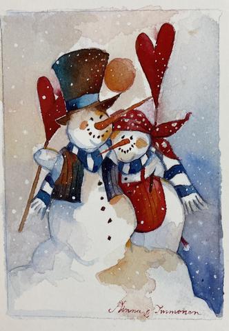 Ystävän päivän lumiukot