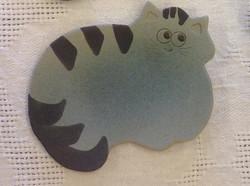 Keraaminen teetassi / kauhanalunen, sininen kissa