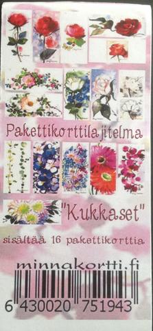 Pakettikorttipaketti Kukkaset