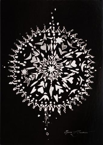 Musta geometrinen kuva
