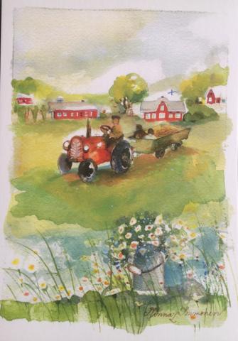Traktorikyyti, Minna Immosen postikortti