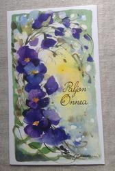Sininen orvokkikortti